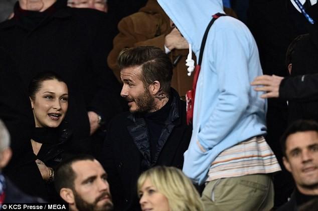 David Beckham trò chuyện thân mật cùng nàng mẫu gợi cảm Bella Hadid ảnh 7