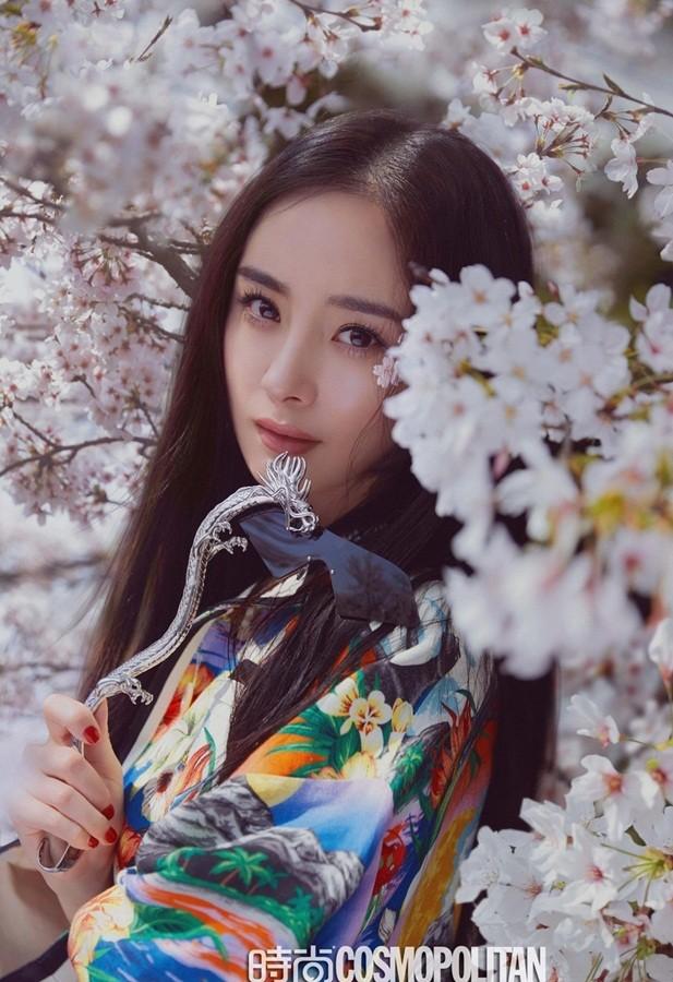Dương Mịch lung linh tựa tiên nữ giữa vườn hoa anh đào ảnh 1