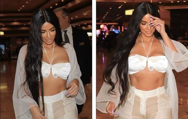 Kim Kardashian diện xuyên thấu siêu quyến rũ ở Las Vegas ảnh 5