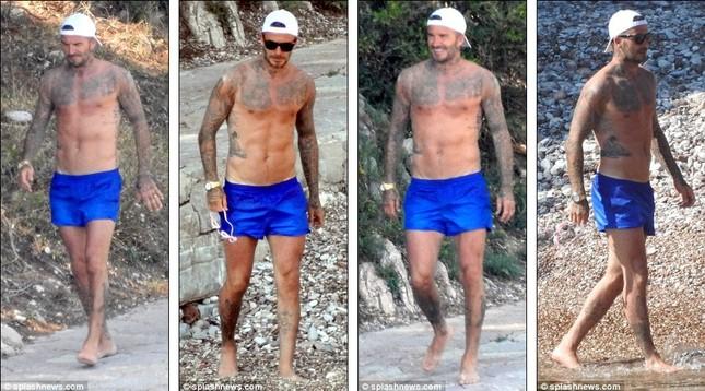 Vợ chồng David Beckham đưa các con đi tắm biển ở Croatia ảnh 2