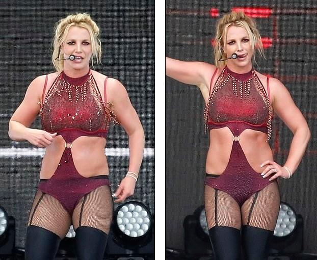 Britney Spears béo ú, eo 'bánh mì' vẫn mê mặc nội y diễn bốc lửa ảnh 3