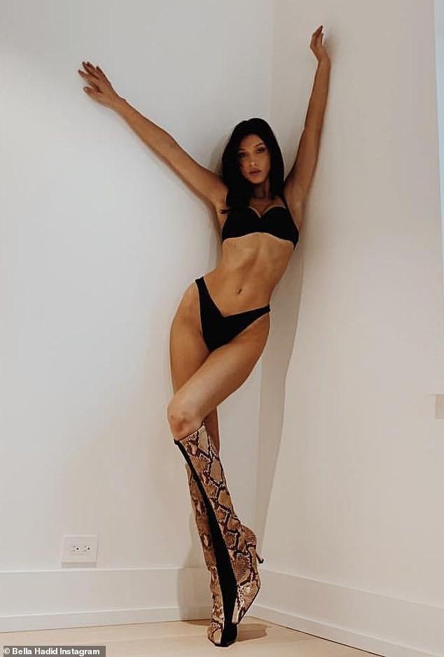 Bella Hadid lấp ló 'vòng 1' đi thử nội y ảnh 6
