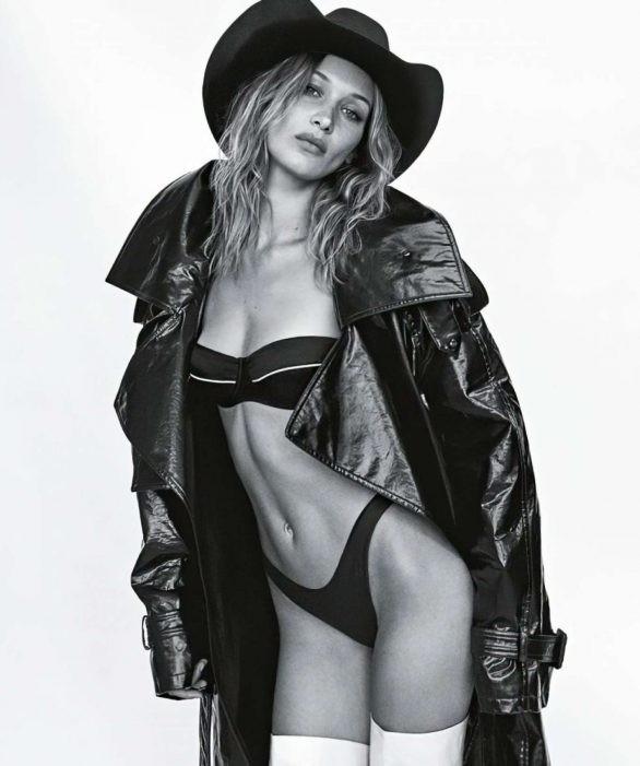 Bella Hadid 'thả rông' ngực trên Vogue ảnh 3