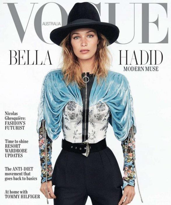 Bella Hadid 'thả rông' ngực trên Vogue ảnh 9