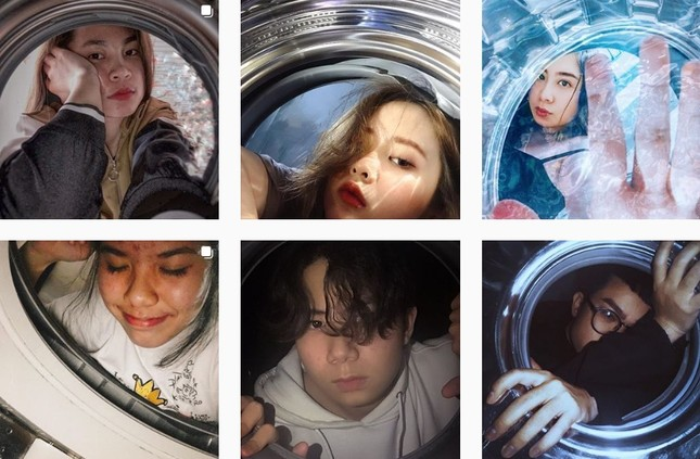 Giới trẻ đua nhau trend chụp ảnh với máy giặt ảnh 10