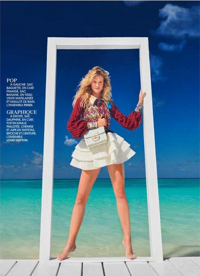 Siêu mẫu 9x Nadine Leopold đẹp hút hồn giữa nắng vàng biển xanh ảnh 7