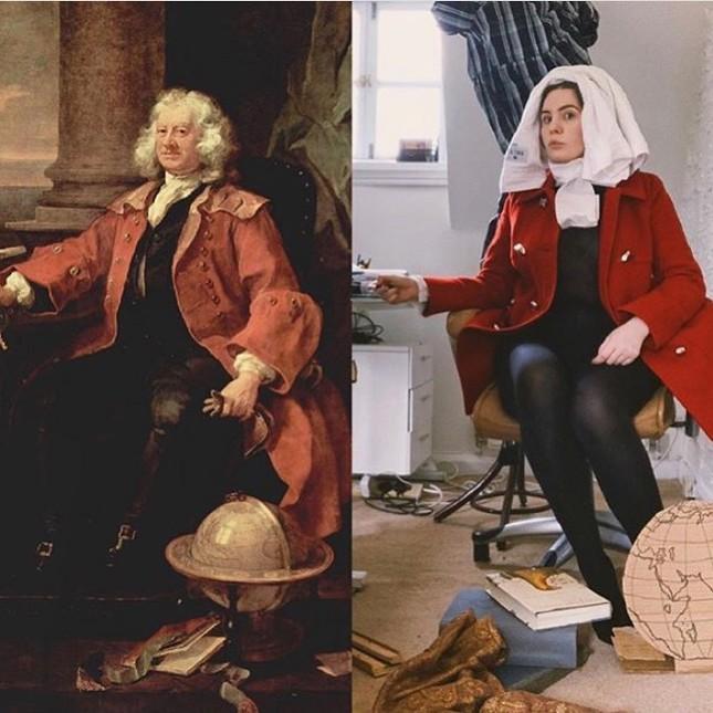 Dân mạng đua nhau chế ảnh hài hước theo các kiệt tác hội họa mùa cách ly ảnh 21