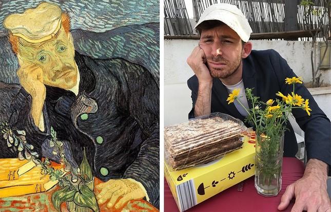 Dân mạng đua nhau chế ảnh hài hước theo các kiệt tác hội họa mùa cách ly ảnh 10
