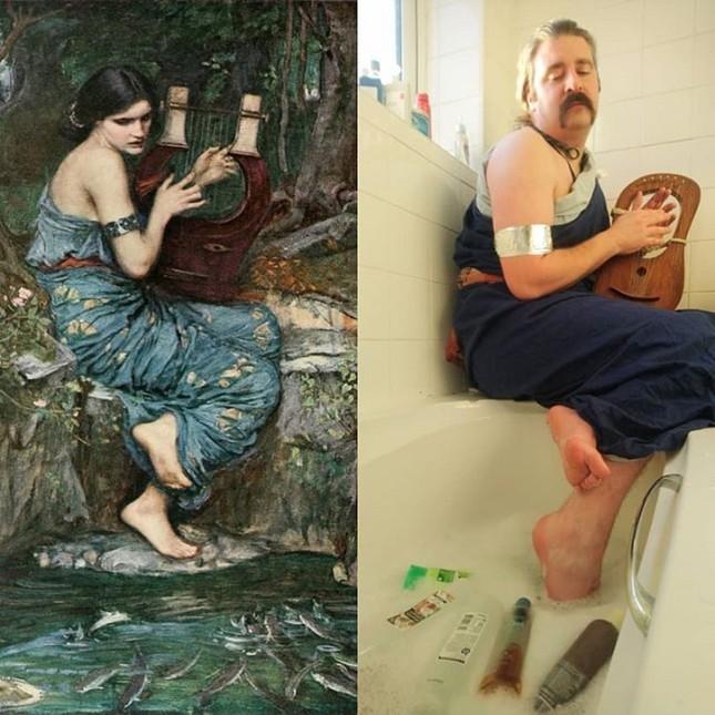 Dân mạng đua nhau chế ảnh hài hước theo các kiệt tác hội họa mùa cách ly ảnh 11