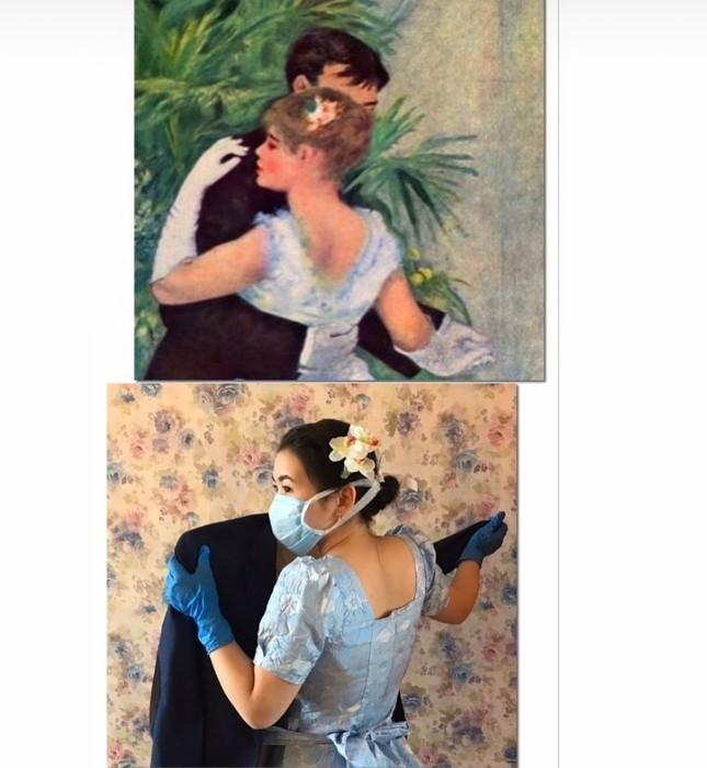 Dân mạng đua nhau chế ảnh hài hước theo các kiệt tác hội họa mùa cách ly ảnh 8