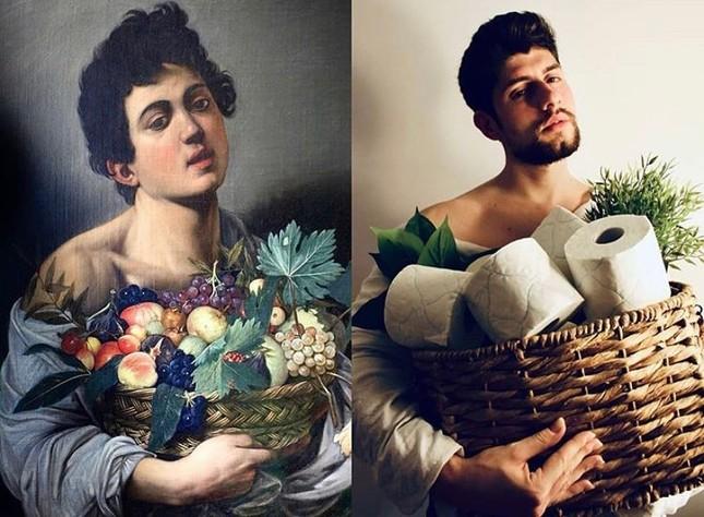 Dân mạng đua nhau chế ảnh hài hước theo các kiệt tác hội họa mùa cách ly ảnh 12