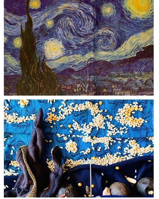 Dân mạng đua nhau chế ảnh hài hước theo các kiệt tác hội họa mùa cách ly ảnh 2