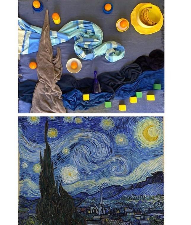Dân mạng đua nhau chế ảnh hài hước theo các kiệt tác hội họa mùa cách ly ảnh 3