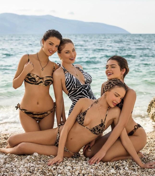 Dàn mỹ nhân xinh như mộng diện áo tắm Dolce & Gabbana trên biển ảnh 2