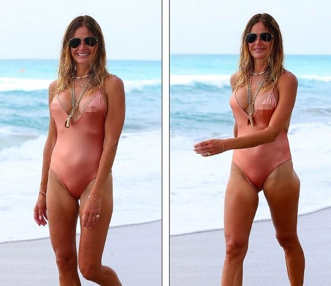 Cựu siêu mẫu Kelly Bensimon 52 tuổi thả dáng 'bốc lửa' trên biển ảnh 5