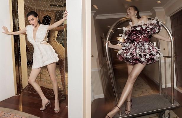 Hồ Ngọc Hà - Thanh Hằng siêu gợi cảm với váy áo Công Trí, gây 'bão' trên Vogue Pháp ảnh 2