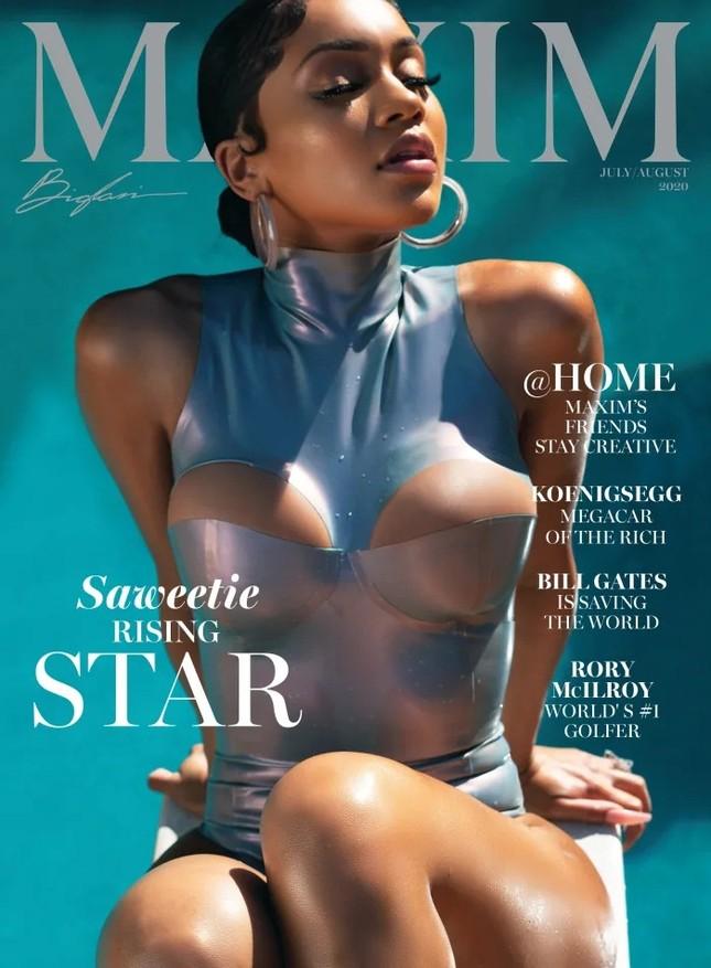 Ảnh áo tắm của Saweetie trên Maxim 'thiêu đốt' ánh nhìn ảnh 1