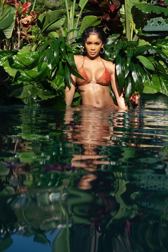 Ảnh áo tắm của Saweetie trên Maxim 'thiêu đốt' ánh nhìn ảnh 4