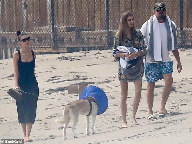 Leonardo DiCaprio tình tứ ôm eo bạn gái kém 23 tuổi dạo biển ảnh 5
