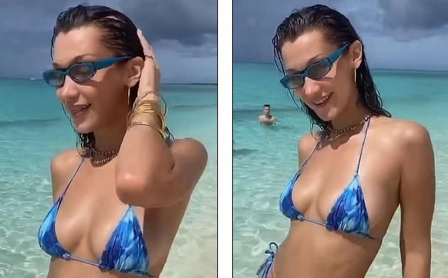Bella Hadid đẹp hút hồn trong ảnh bikini rực lửa ở biển ảnh 10