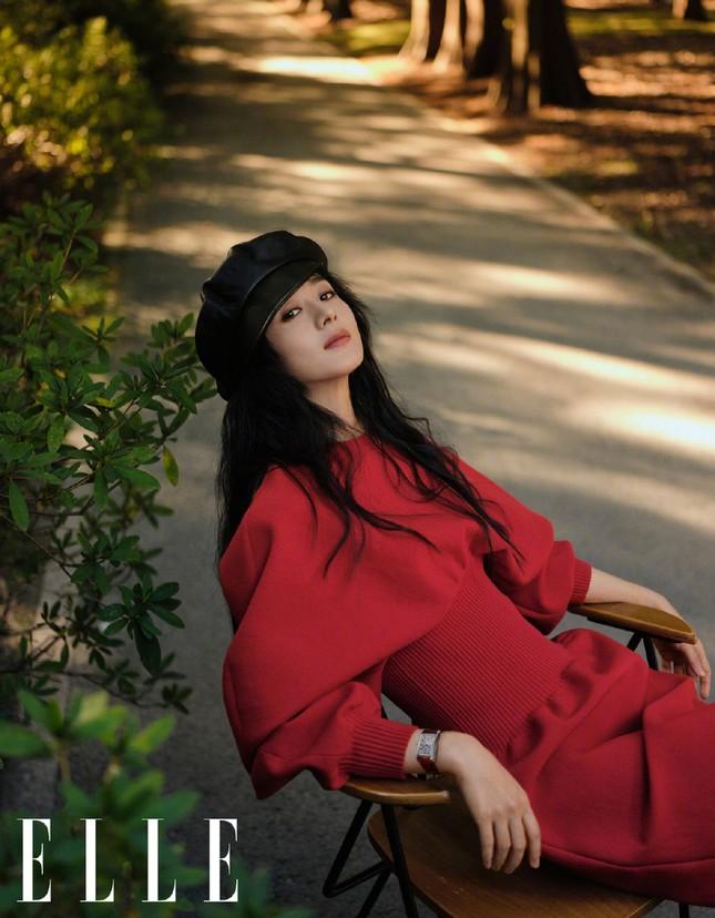 Triệu Lệ Dĩnh trẻ xinh ngỡ ngàng trên Elle số tân niên 2021 ảnh 4