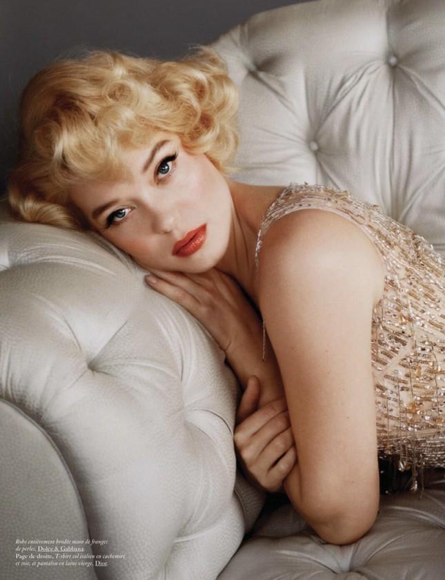 'Bông hồng nước Pháp' thả dáng bốc lửa khi hóa thân huyền thoại Marilyn Monroe ảnh 1