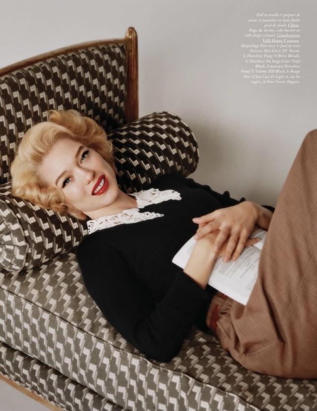 'Bông hồng nước Pháp' thả dáng bốc lửa khi hóa thân huyền thoại Marilyn Monroe ảnh 3