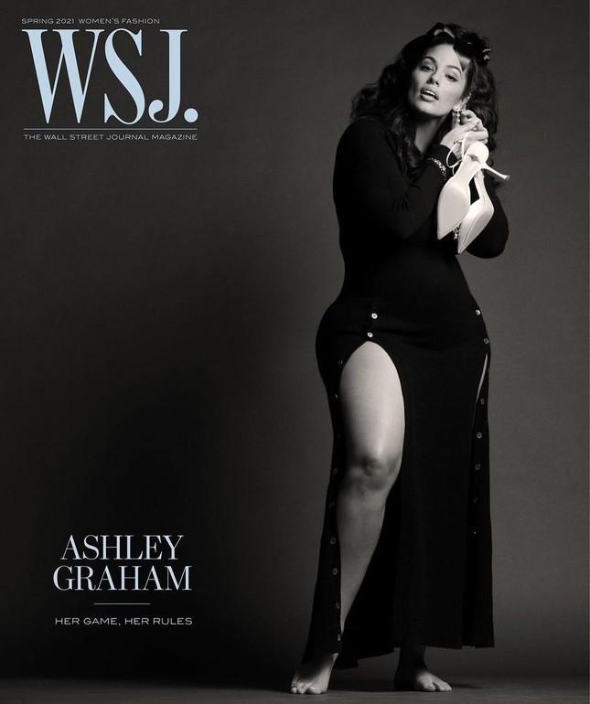 Người mẫu béo Ashley Graham tự tin với đường cong ngoại cỡ ảnh 1