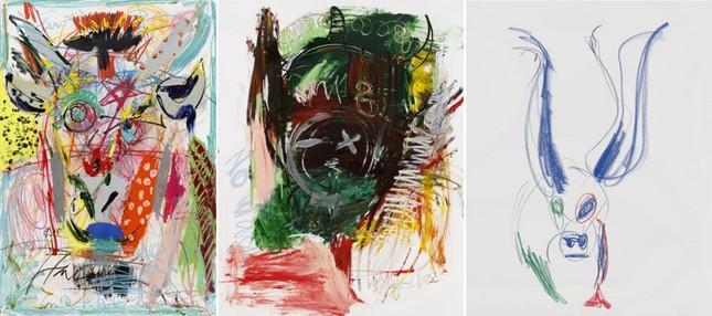 'Hoàng hậu Ki' Ha Ji Won triển lãm tranh, dân mạng bình luận 'con tôi 5 tuổi vẽ đẹp hơn' ảnh 5