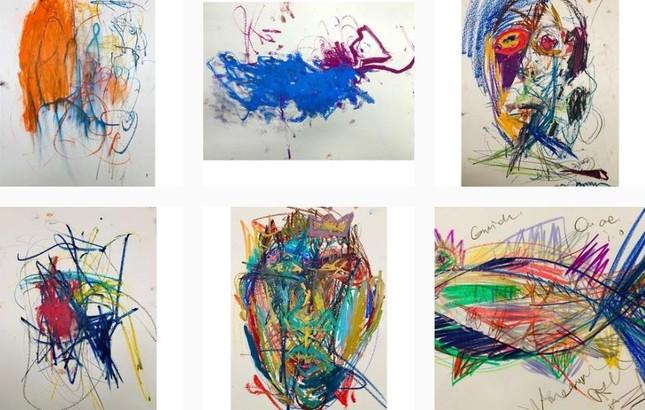 'Hoàng hậu Ki' Ha Ji Won triển lãm tranh, dân mạng bình luận 'con tôi 5 tuổi vẽ đẹp hơn' ảnh 6