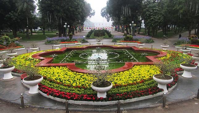 Độc đáo 12 con giáp bằng cây hoa nghệ thuật trong công viên Thống Nhất ảnh 13