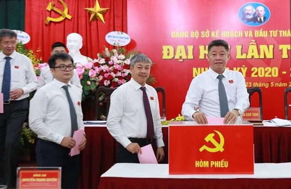Đại hội Đảng bộ Sở KH&ĐT và Sở TM&MT: Hai Giám đốc Sở được bầu làm Bí thư Đảng ủy ảnh 1