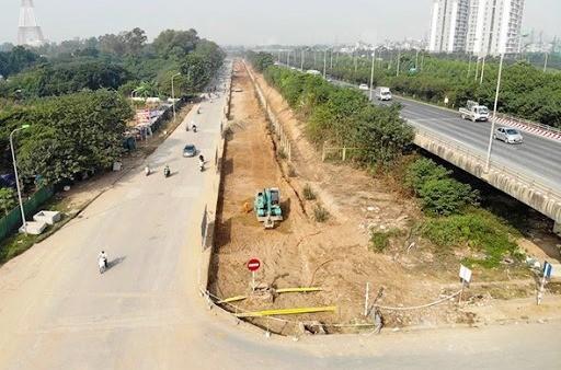 Ban Duy tu nói gì về tồn tại ở dự án mở rộng đường gom Đại lộ Thăng Long? ảnh 1