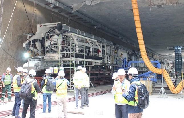 Tận thấy lắp ráp robot đào hầm khủng tuyến metro Nhổn - ga Hà Nội ảnh 6