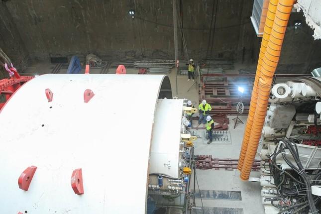 Tận thấy lắp ráp robot đào hầm khủng tuyến metro Nhổn - ga Hà Nội ảnh 9