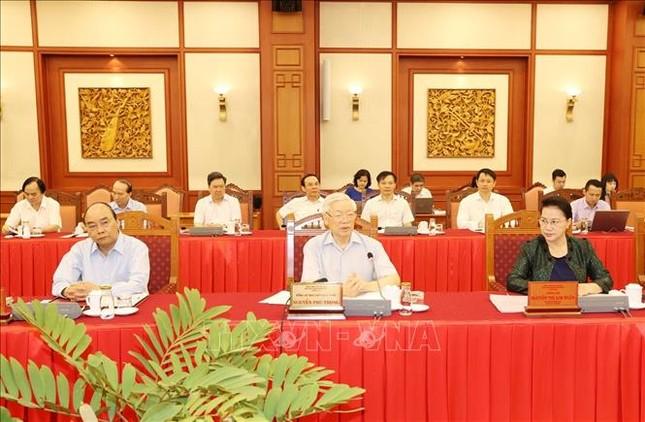 Tổng Bí thư, Chủ tịch nước chủ trì buổi làm việc với Ban Thường vụ Thành ủy Hà Nội ảnh 1