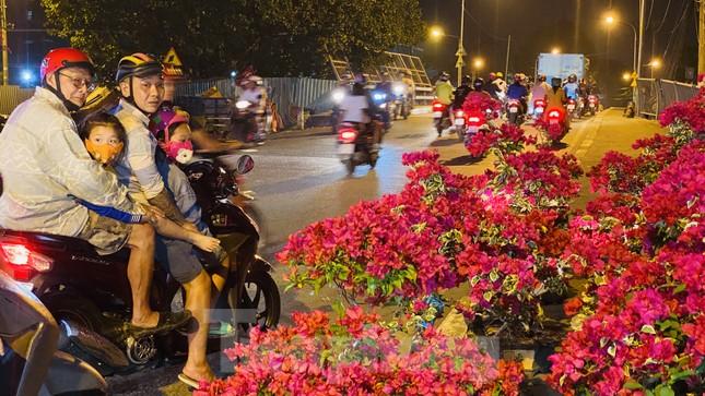 Chợ hoa 'trên bến dưới thuyền' nhộn nhịp về đêm ảnh 1
