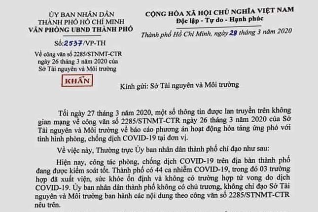 TPHCM phê bình nghiêm khắc Sở TN&MT vụ ban hành công văn hỏa táng ảnh 1