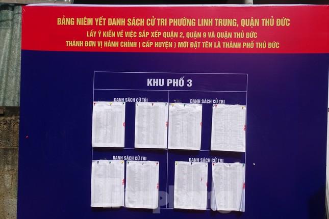 Người dân TPHCM đi bỏ phiếu về việc thành lập TP Thủ Đức ảnh 3