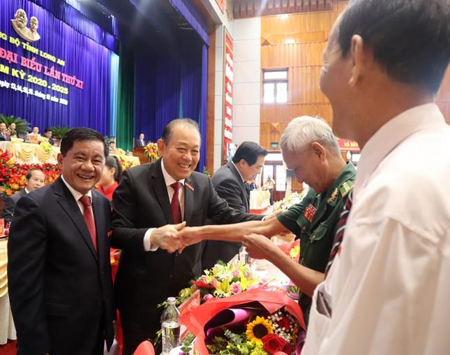 Hình ảnh lãnh đạo Trung ương dự khai mạc Đại hội Đảng bộ Long An ảnh 1