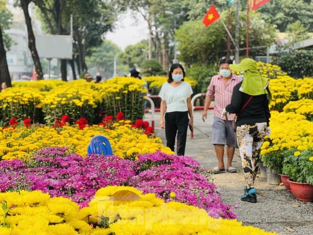 Chợ hoa lớn nhất Sài Gòn vắng khách ngày cận Tết ảnh 1