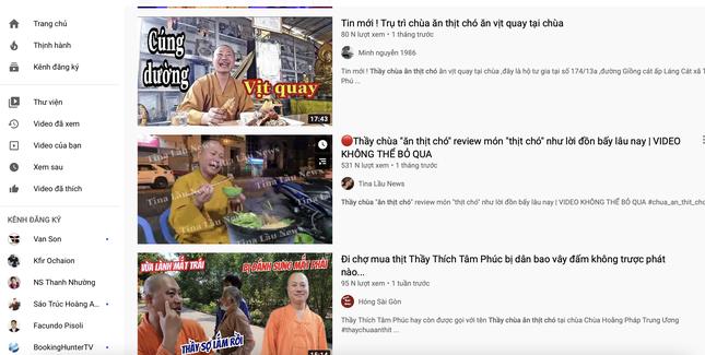Quay nội dung 'thầy chùa ăn thịt chó', nhiều YouTuber bị công an mời lên làm việc ảnh 1
