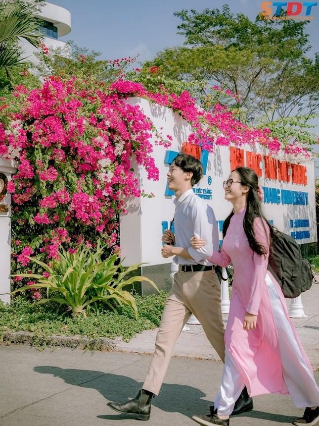 """""""Bão like"""" với bộ ảnh bên hoa giấy của cặp đôi sinh viên trường ĐH Tôn Đức Thắng  ảnh 2"""
