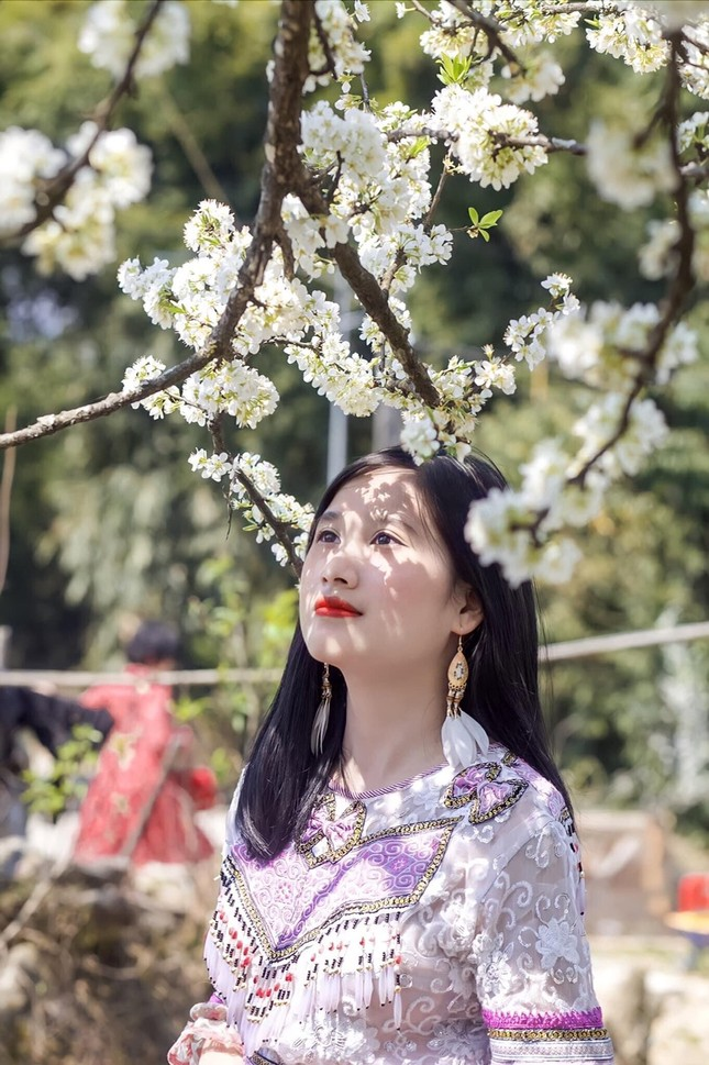 """Cô giáo trẻ hóa thân thành """"nàng thơ"""" giữa rừng hoa mận Sa Pa ảnh 4"""
