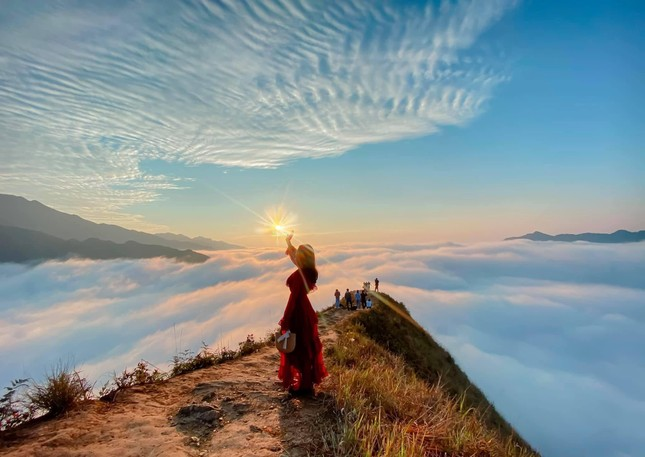 Lặng ngắm biển mây trên đỉnh Tà Xùa ảnh 1
