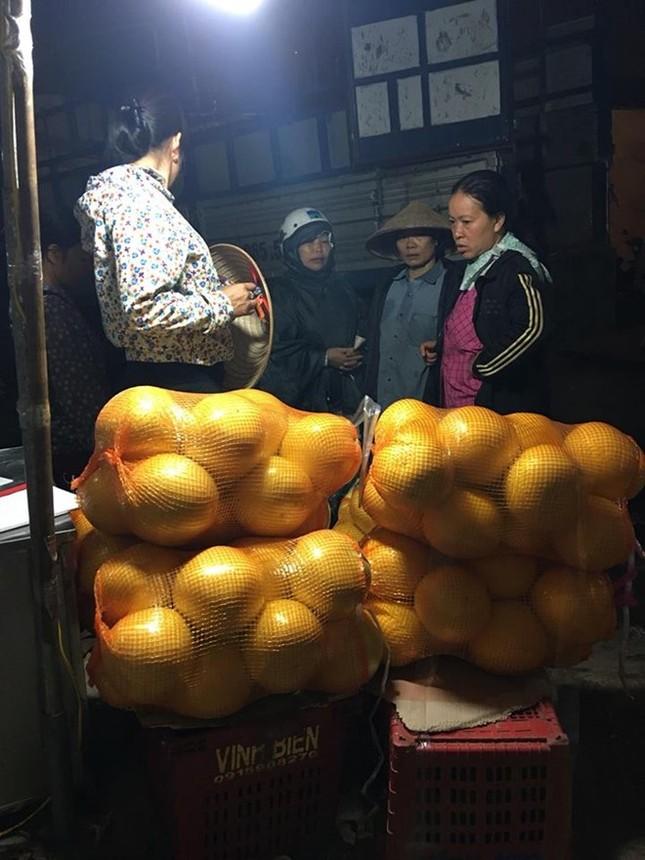 Bưởi lạ vàng bóng của Trung Quốc bán đầy chợ ở Hà Nội ảnh 1