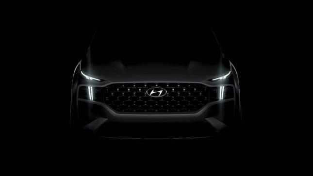 Hyundai tung ảnh ban đầu về Santa Fe 2021 ảnh 1