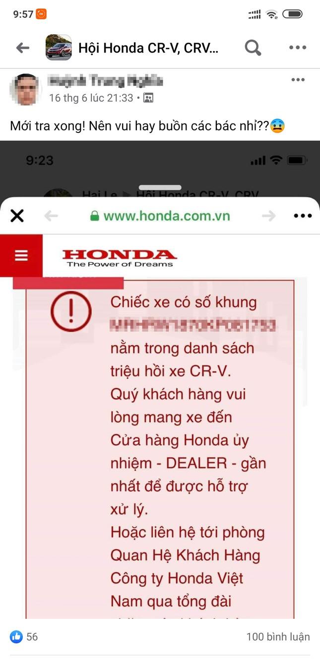 Người dùng ôtô Honda hò nhau kiểm tra lỗi bơm nhiên liệu ảnh 2