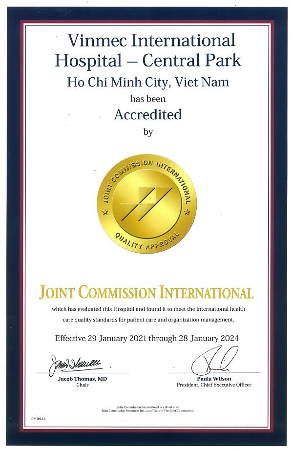 Bệnh viện Vinmec Central Park - TPHCM nhận chứng chỉ quốc tế JCI lần II ảnh 1