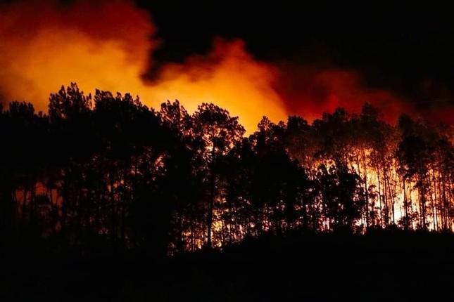 Cận cảnh rừng Hà Tĩnh cháy đỏ trời, dân tất tả di dời tài sản ảnh 4